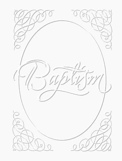 Picture of Baptism Certificate Silver Foil Embossed Package of 6