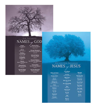 Names of God & Names of Jesus Poster (Set of 2)