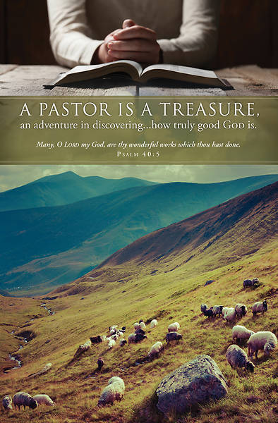A Pastor is a Treasure  Pastor Appreiciation Bulletin Ps 40:5 Reg (Pkg of 100)