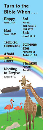 Picture of Bible Story Basics Turn to the Bible When Bookmark (Pkg of 25)