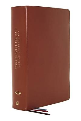 Picture of Niv, Charles F. Stanley Life Principles Bible, 2nd Edition, Genuine Leather, Brown, Thumb Indexed, Comfort Print