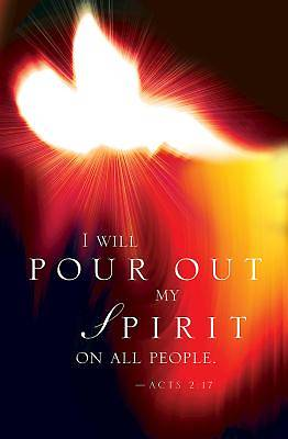 I Will Pour Out My Spirit Pentecost Bulletin (Pkg of 50)
