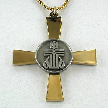 Presbyterian Two-Tone Clergy Cross