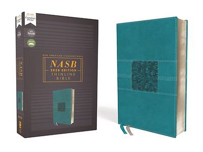 Picture of Nasb, Thinline Bible, Leathersoft, Teal, Red Letter Edition, 2020 Text, Comfort Print