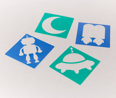 Picture of Vacation Bible School (VBS) To Mars and Beyond Space Stencils (Pkg of 12)