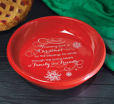 Thanking God at Christmas Deep Dish Pie Plate