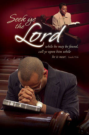 Seek Ye the Lord African American Heritage Bulletin, Regular (Package of 100)