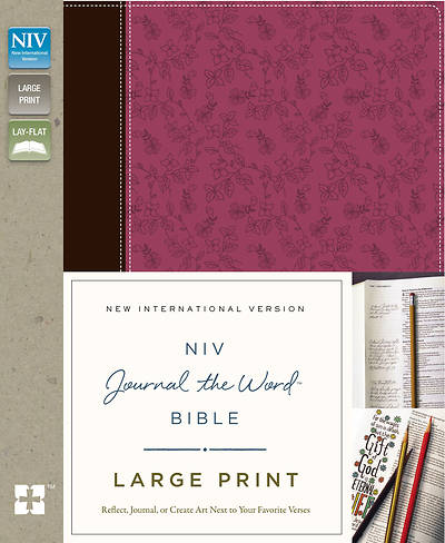 Picture of NIV, Journal the Word Bible, Large Print, Imitation Leather, Pink/Brown