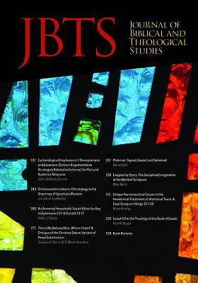 Picture of Journal of Biblical and Theological Studies, Issue 3.2