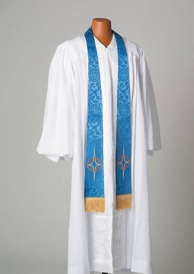 Picture of Blue Stole With Star Cross symbol