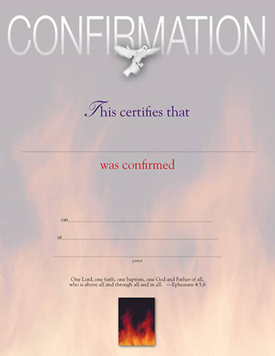 Picture of Certificate of Confirmation (Package of 6)