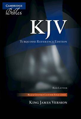 Picture of KJV Turquoise Reference Bible, Black Goatskin Leather, Red-Letter Text