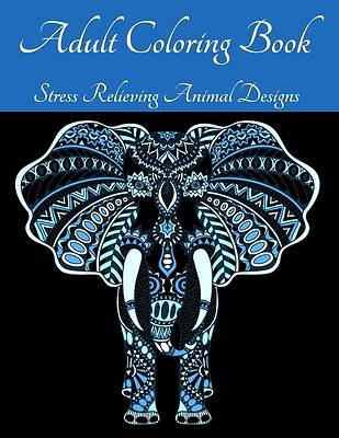 Picture of Adult Coloring Book - Stress Relieving Animal Designs