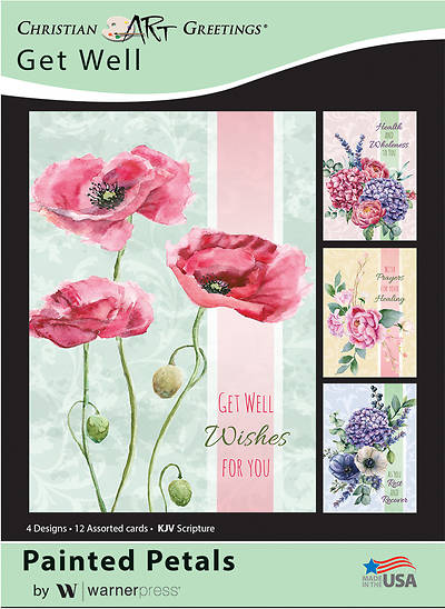 Painted Petals Get Well Boxed Cards
