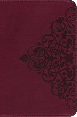 NIV Single-Column Bible Italian Duo-Tone Cranberry