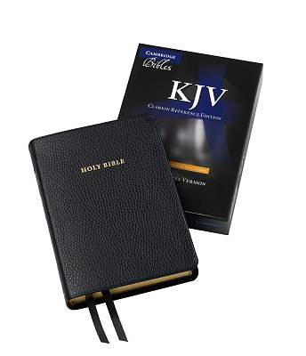 KJV Single Column Black Calf Split Reference Kj483