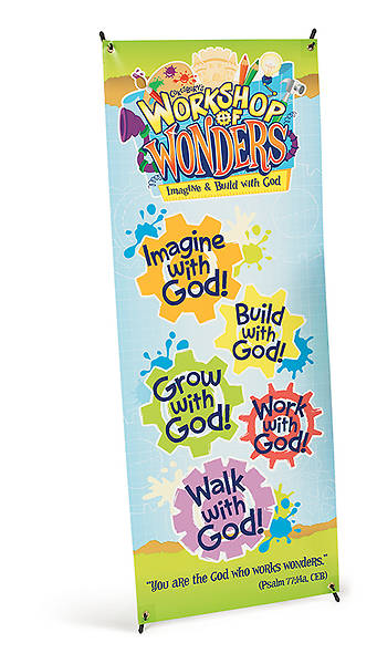 Vacation Bible School (VBS) 2014 Workshop of Wonders VBS Theme Banner