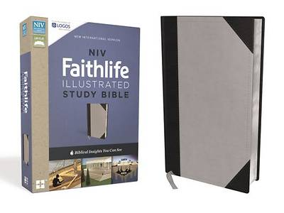 NIV, Faithlife Illustrated Study Bible, Imitation Leather, Gray/Black, Indexed
