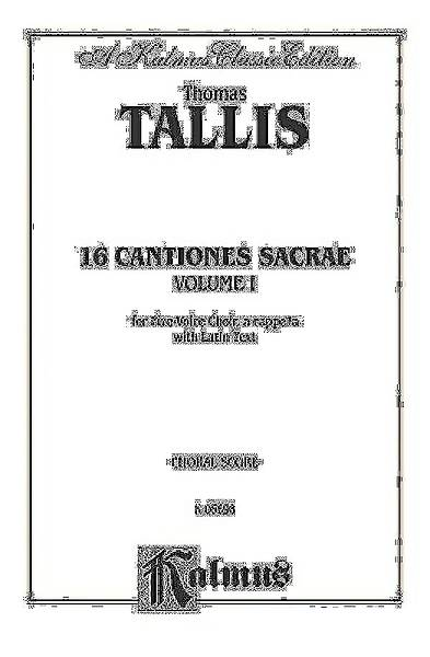 16 Cantiones Sacrae, Volume I; For Five-Voice Choir, A Cappella with Latin Text