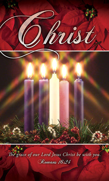 Picture of Christ Advent Wreath 3' X 5' Fabric Banner