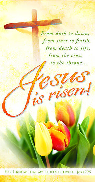 Easter Jesus Is Risen Tulip Offering Envelope (Package of 100)