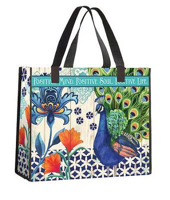 Picture of Positive Peacock Nylon Tote Bag