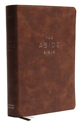 Picture of NKJV, Abide Bible, Leathersoft, Brown, Red Letter Edition, Comfort Print