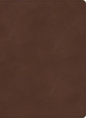 Picture of KJV Single-Column Wide-Margin Bible, Brown Leathertouch