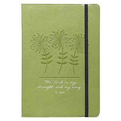 Journal - Lux-Leather - Green Flowers