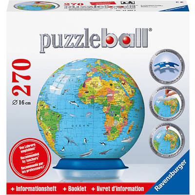Childrens Globe 270 PC Puzzleball with Info Booklet