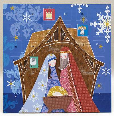 Jesus, Mary & Joseph with Layered 3D Effect Advent Calendar (includes envelope)