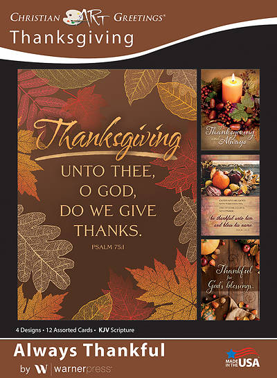 Picture of Always Thankful Thanksgiving Boxed Cards (Box of 12)