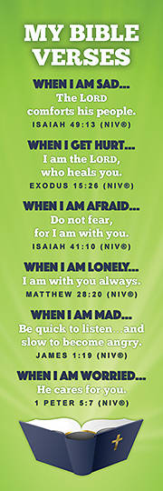 Picture of My Bible Verses Bookmark Multiple (Package of 25)
