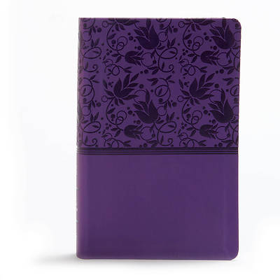 Picture of KJV Large Print Personal Size Reference Bible, Purple Leathertouch