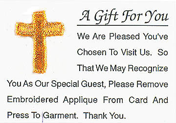 Visitor Card A Gift for You Cross (Box of 25)