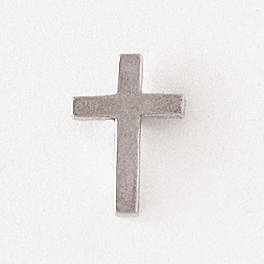 Pewter Lapel Pin - Plain Cross