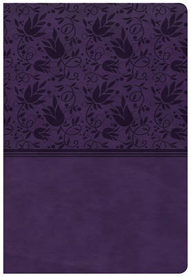 CSB Super Giant Print Reference Bible, Purple Leathertouch, Indexed
