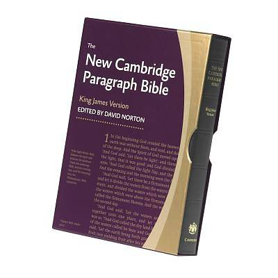 New Cambridge Paragraph Bible Personal Size Black Calfskin KJV