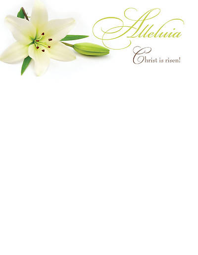 Easter Lilies Letterhead 2011 (Package of 50)