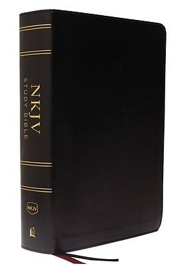 NKJV Study Bible, Imitation Leather, Black, Full-Color, Red Letter Edition, Comfort Print