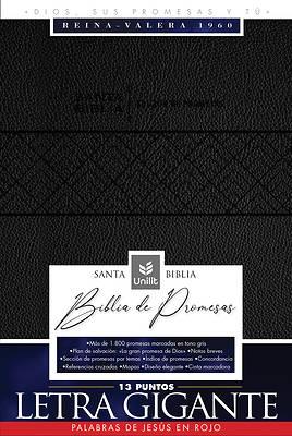 Picture of Rv-60 Biblia de Promesas - Letra Grande- Edición Negra Imitación Piel Con Índice