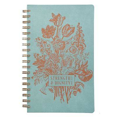 Picture of Journal Lux-Leather Flexcover Wirebound Strength and Dignity