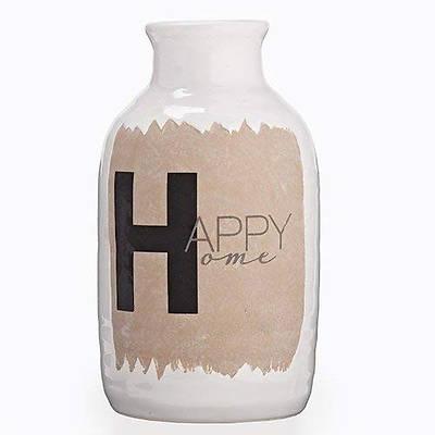 """Picture of Ceramic Happy Home Vase 9.25"""""""