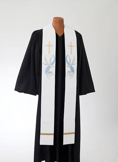 Dove & Shell Baptismal Stole
