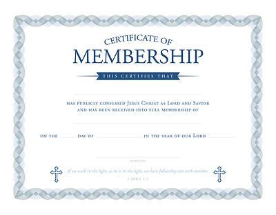 Picture of Membership Certificate 1 John 1:7 Pkg of 6