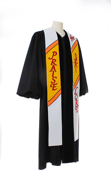 Picture of 7500 Scripture Series White Stole - 100""