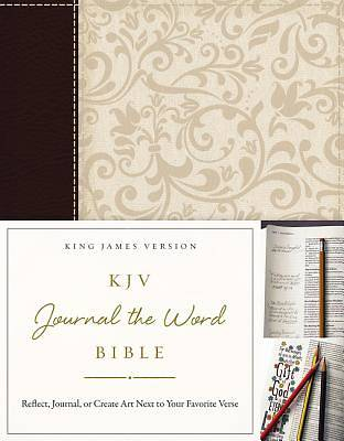 KJV, Journal the Word Bible, Imitation Leather, Brown/Cream, Red Letter Edition