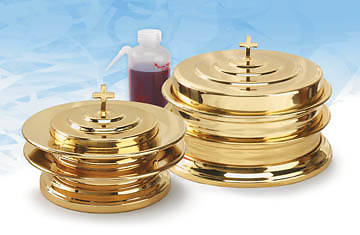 Solid Brass Communionware Set