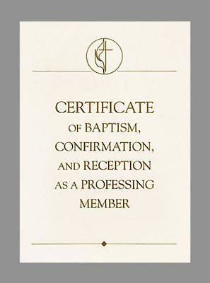 United Methodist Covenant I Baptism, Confirmation & Reception Certificates (Pkg of 3)