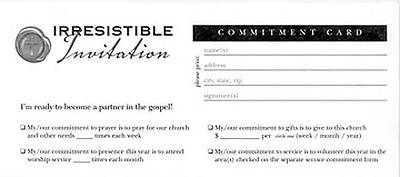 Irresistible Invitation Commitment Card (Package of 100)